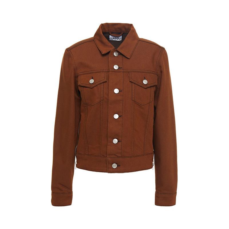 包税代购Ganni女牛仔布夹克短外套