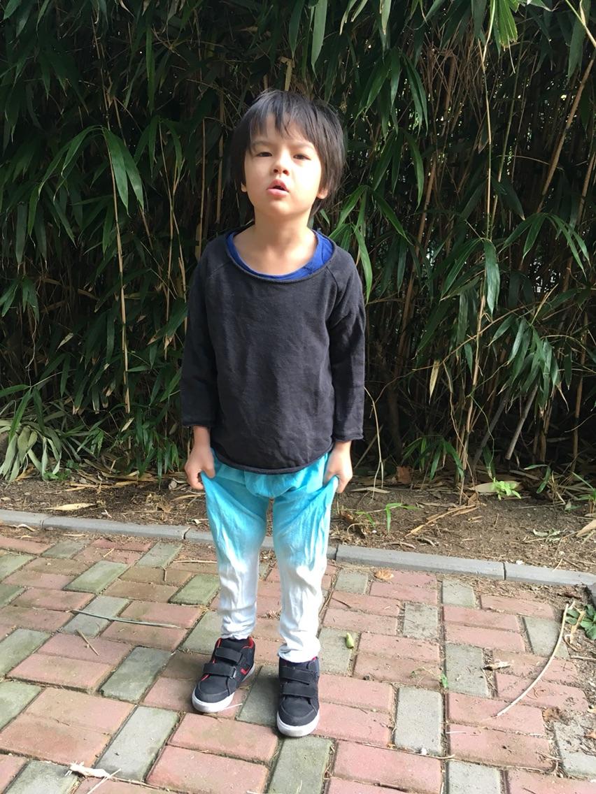 100元の3つの春秋MikMik 6993麻綿の子供のランニング服のトップシャツのウェアーの毛輪のスポーツウェア