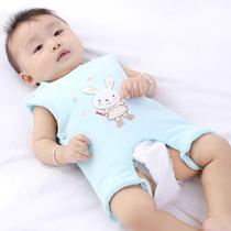 宝宝纯棉肚兜兜 婴儿背心式连腿护肚围 儿童小孩加厚睡觉春秋冬季