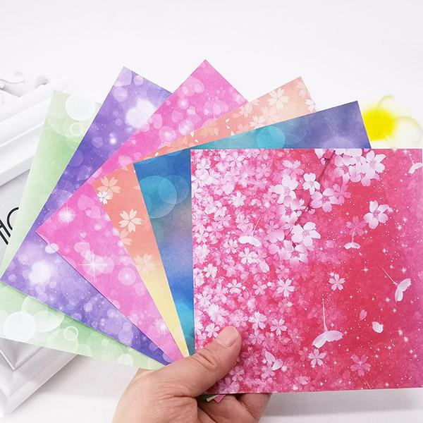 折纸手工彩色印花纹卡纸正方形单面有图案的小清新带好看大薄漂亮