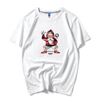 夏季日系男装体恤衫卡通动漫龟仙人印花纯棉大码宽松短袖圆领t恤