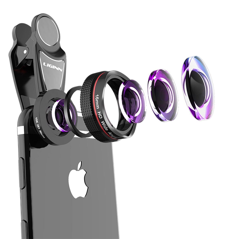 超广角单反手机镜头高清外置微距特写鱼眼三合一通用专业拍照摄像神器无畸变