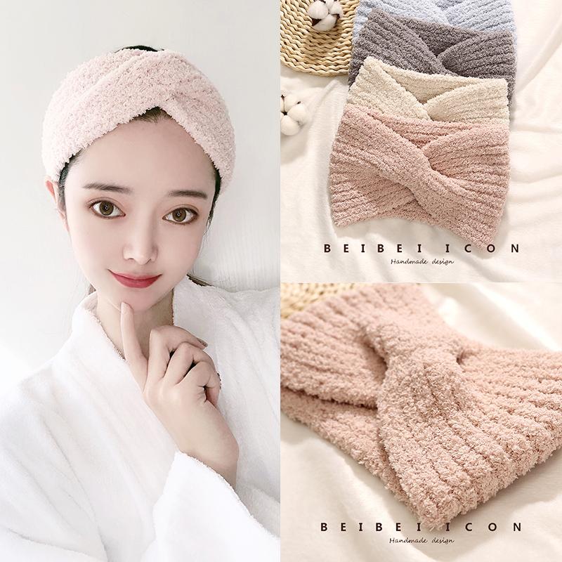 洗脸女韩国简约宽边面膜化妆发带
