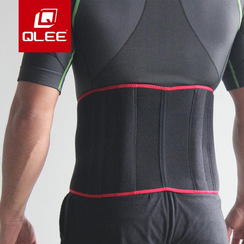 qlee健身腰带收腹跑步运动束腰带护具男女羽毛球篮球发汗爆汗腰带