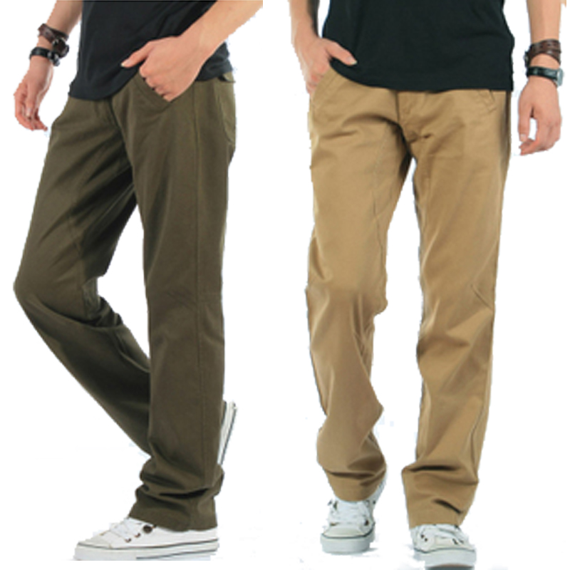 Simple mens loose outdoor cotton straight casual pants overalls pants pocket pants mens oversize