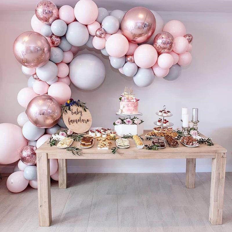 儿童女友生日派对道具粉色系气球限6000张券
