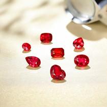 双十一精选无烧莫桑比克红宝石裸石缅甸有烧红宝石国际证书