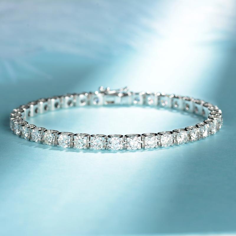 Драгоценный камень мое работа 18k платина личность тау модель алмаз браслет роскошный строка инкрустация карат алмаз рука украшения
