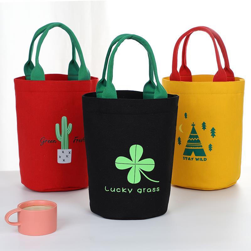 Heat preservation barrel coat thickened heat preservation lunch box bag round large capacity cylindrical delivery barrel bag