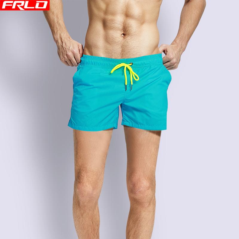 FRLO沙滩裤男速干宽松可下水潮款泳裤内衬款三分裤海边度假温泉裤