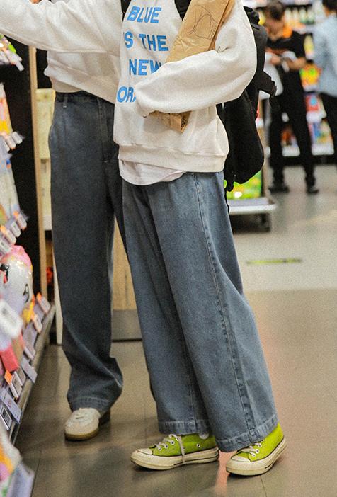 wide washed jeans 90 rsquo牛仔裤满159.00元可用1元优惠券