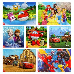 幼儿童早教益智力拼图超级飞侠3宝宝4木质框式2-6岁5小男女孩平图