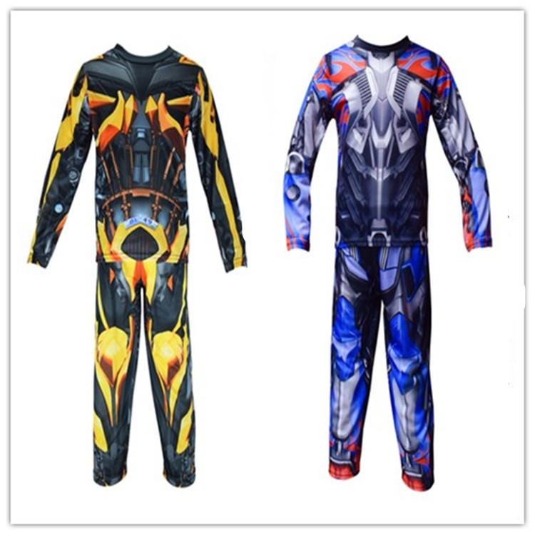 Halloween childrens costumes transformers clothes boys Optimus Prime hornet cos armor suit Costume