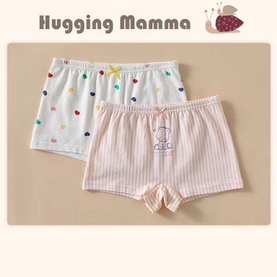 斑比huggingmamma女童内裤薄款全纯棉莫代尔儿童女宝内裤平角短裤