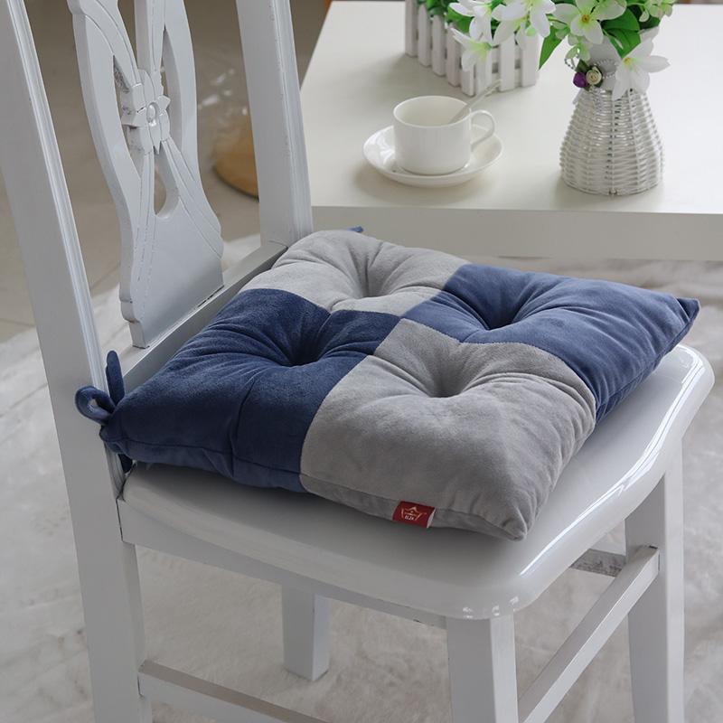 毛绒加厚坐垫椅垫电脑椅子办公室学生座垫靠背垫冬季保暖屁股垫子
