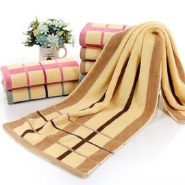 運動洗澡毛巾1.1米純棉加長35×110長款柔軟沖涼吸汗繡字LOGO圖片