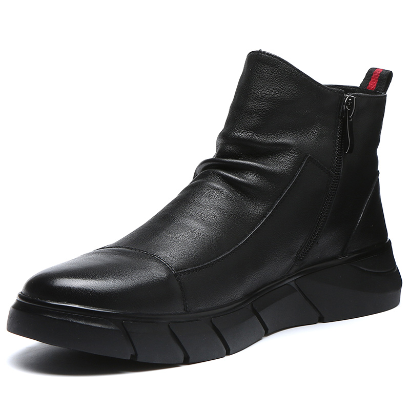 Martin boots men's British style leather high top shoes all kinds of Boots Men's mid top boots spring 2020 new men's shoes