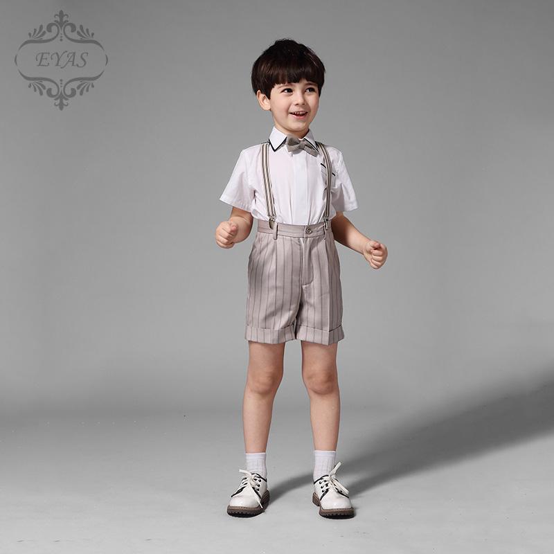 eyas兒童男童背帶褲套裝