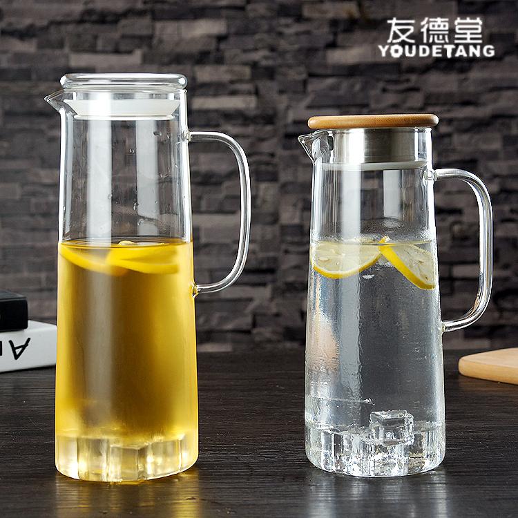 家用耐热高温玻璃冷水壶 晾凉白开水杯扎壶 防爆大容量透明凉水壶