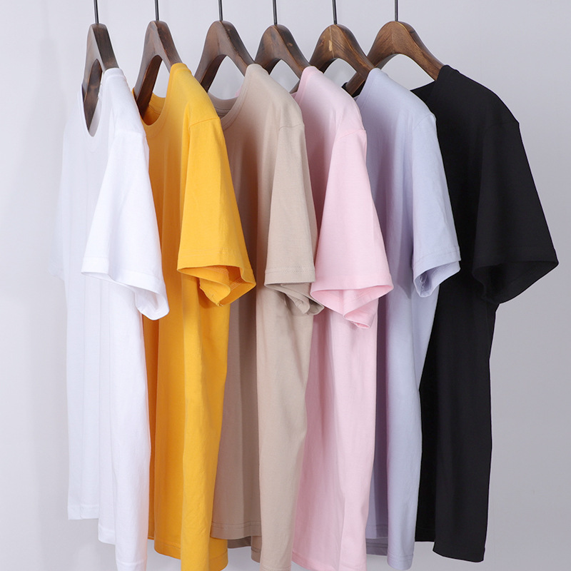 Short sleeve t-shirt mens white slim fitting round neck loose LARGE T-SHIRT solid color half sleeve cotton bottom t-shirt t-shirt