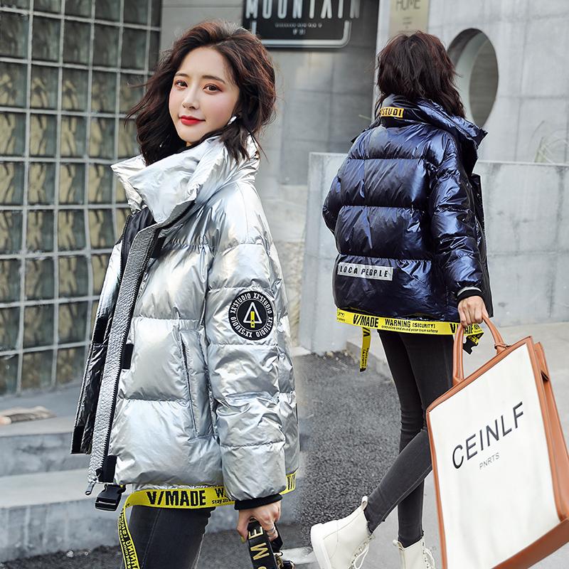短款羽绒服加厚亮面女装2020新款冬季爆款时尚韩版显瘦小个子外套