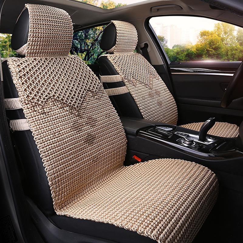 汽车坐垫夏季冰丝手编座垫凉垫四季通用别克君越君威英朗gt昂科威(非品牌)