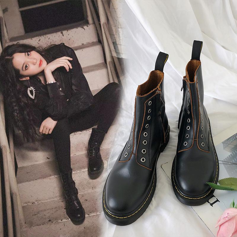 马丁靴短靴女欧阳nana同款复古英伦风网红潮鞋热卖抖音爆款酷帅气
