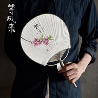 Японское изображение, японский стиль, вентилятор ручная работа Художественный вентилятор один Фейерверк Ли Чжими Производные