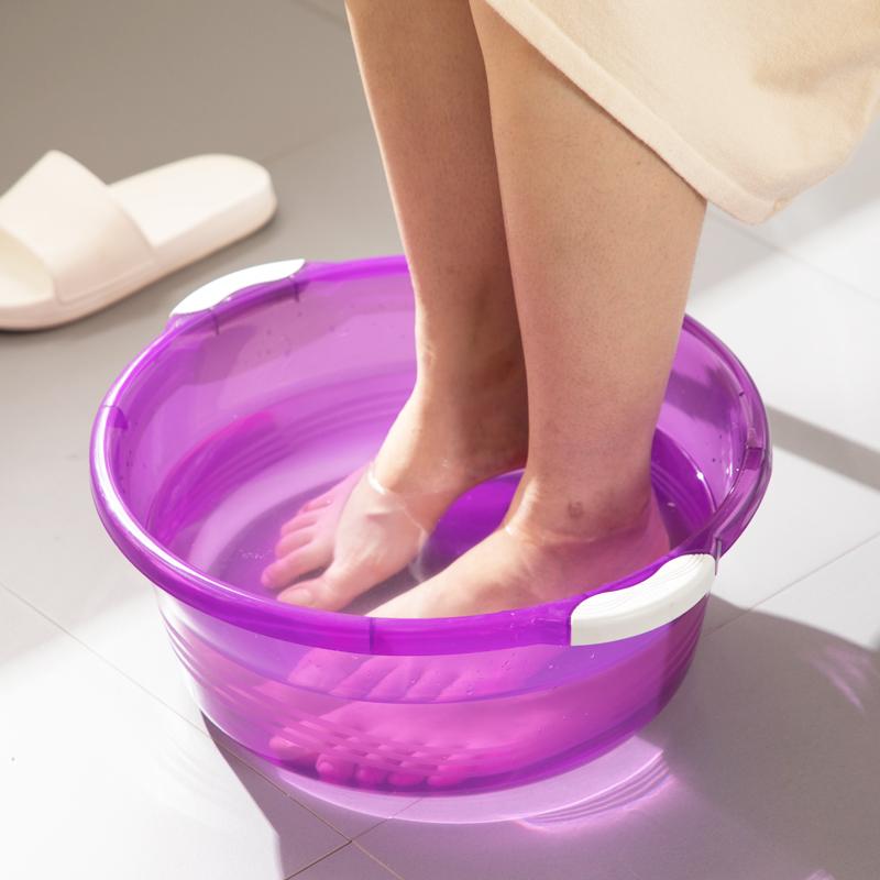 茶花塑料盆家用加厚大号防滑厨房洗菜盆子水果盆婴儿洗衣盆洗脸盆