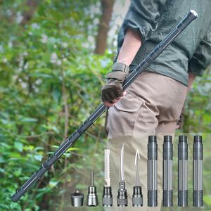 多功能防身棍登山杖户外用品棍子自卫打架武器甩辊甩棍棍中刀