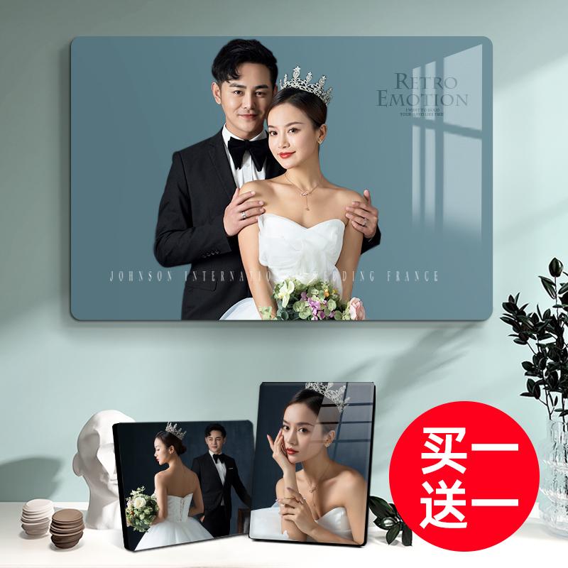 相框摆台定制洗照片做成摆件水晶相册相片框冲印婚纱照放大挂墙加