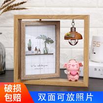 相框摆台个姓照片框六6寸可爱现代简约轻奢小摆件送女生生日礼物
