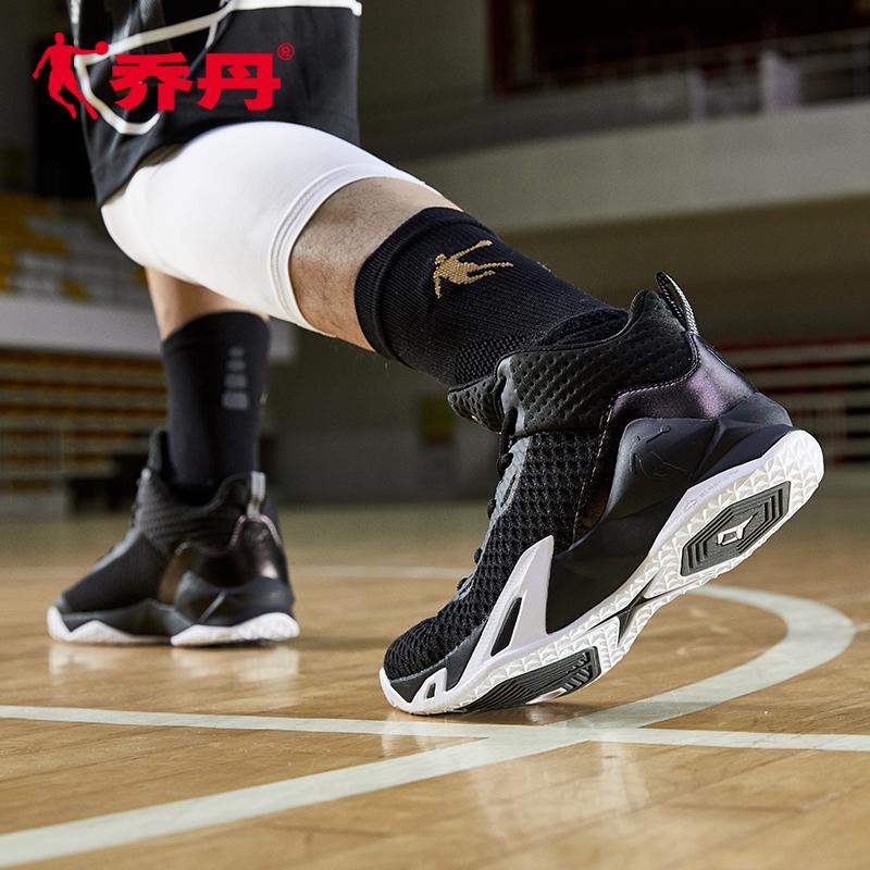 乔丹男鞋飞人篮球鞋夏季高帮减震耐磨正品黑武士外场球鞋运动鞋