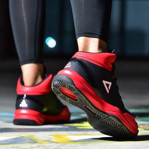 正品匹克篮球鞋男高帮加绒保暖黑色男士小码防滑球鞋战靴运动棉鞋
