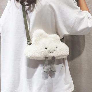 韩版ins可爱软妹云朵包卡通毛绒绒云彩玩偶包包女学生单肩斜挎包
