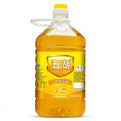 五湖 食用油 一级大豆油5L 中粮出品餐饮食堂食用油