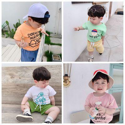 小森家男婴童 宝宝韩版卡通短袖2019夏装新款儿童纯棉舒适凉快T恤