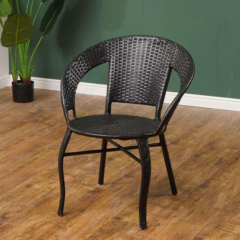 靠背椅子简约现代时尚编织室内餐椅