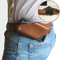 查看PU皮革腰挂手机袋便携斜跨手机腰包户外便携手机套男士皮带手机罩价格