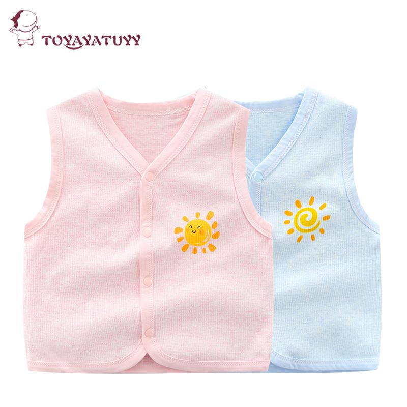 婴儿马甲春秋薄款宝宝纯棉背心护肚男女童夏季新生儿0-6-3岁衣服