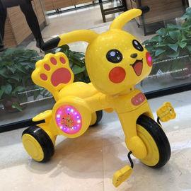 儿童三轮车1-3-5岁男女宝宝大号皮卡丘音乐童车脚踏车玩具自行车
