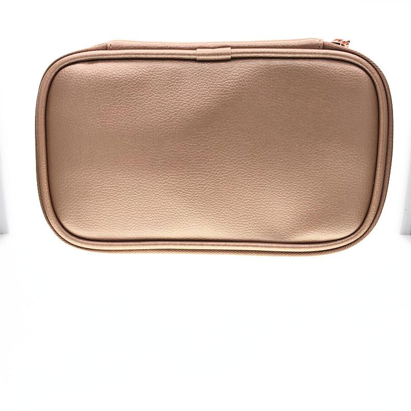 【奶茶12孔刷包/ 深棕色8大孔刷包】 PU皮 化妆刷包收纳包图片