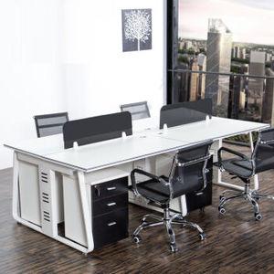 北京办公桌办公家具4人6人位简约现代工作位员工桌职员办公桌椅