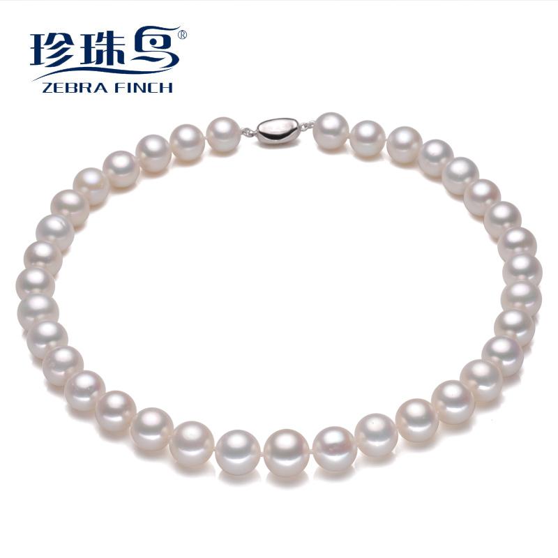 珍珠鸟珠宝 正圆12-15mm强光淡水珍珠锁骨链正品节日送礼送妈妈