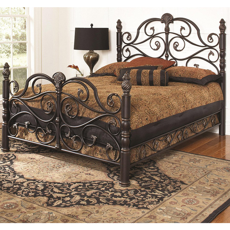North European style iron bed modern simple princess bed iron frame bed 1.51.8m retro furniture single double bed iron bed