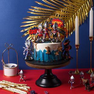 奥特曼男孩儿童款卡通生日蛋糕北京上海广州深圳杭州成都同城配送