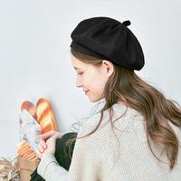 貝雷帽女秋冬季韓版日系畫家帽子羊毛呢蓓蕾帽英倫復古南瓜八角帽