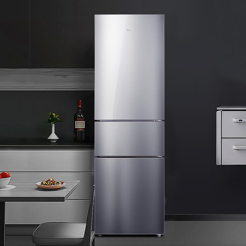 升三门风冷无霜家用三开门式小型节能电冰箱变频风机双门210TCL