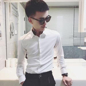 LES小码男装矮小个子长袖衬衫男S号XS码纯色商务衬衣正装寸衫修身