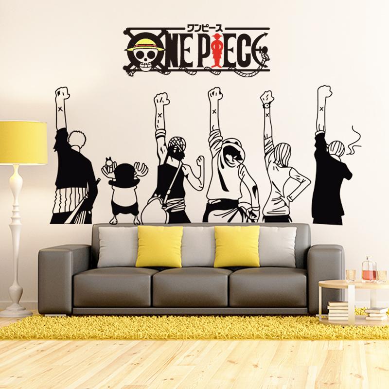 海賊王通緝令海報紙路飛卡通動漫貼畫卧室宿舍創意自粘背景牆貼紙